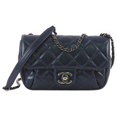 Chanel Pleated Chain Flap Bag Quilted Calfskin Small