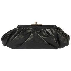 Chanel Pleated Lambskin Leather Clutch