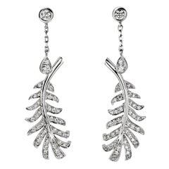 Chanel Plume Diamond White Gold Earrings