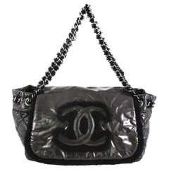 Chanel Polar Accordion Flap Bag Vinyl with Mohair