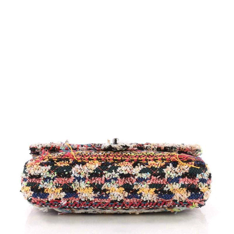 af83d6ba8d582d Chanel Pom Pom CC Flap Bag Quilted Tweed Medium For Sale at 1stdibs