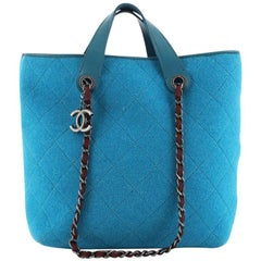 Chanel Pop Tote Quilted Felt Medium