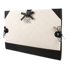 Chanel Portfolio Clutch Spring 2014 RTW Runway Professional Black White Leather