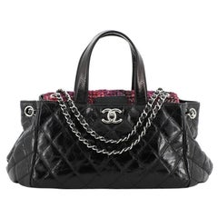 Chanel Portobello Tote Quilted Glazed Calfskin and Tweed East West