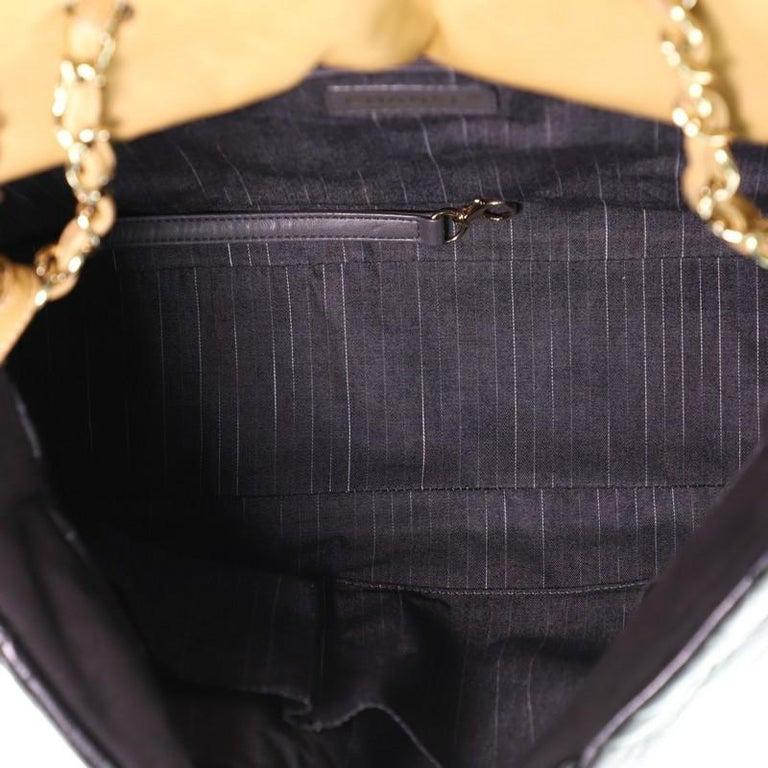 Women's or Men's Chanel Portobello Tote Quilted Glazed Calfskin Medium For Sale