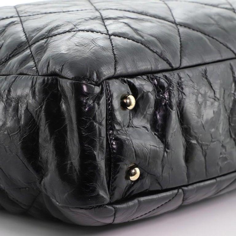 Chanel Portobello Tote Quilted Glazed Calfskin Medium For Sale 1