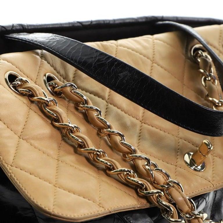 Chanel Portobello Tote Quilted Glazed Calfskin Medium For Sale 2
