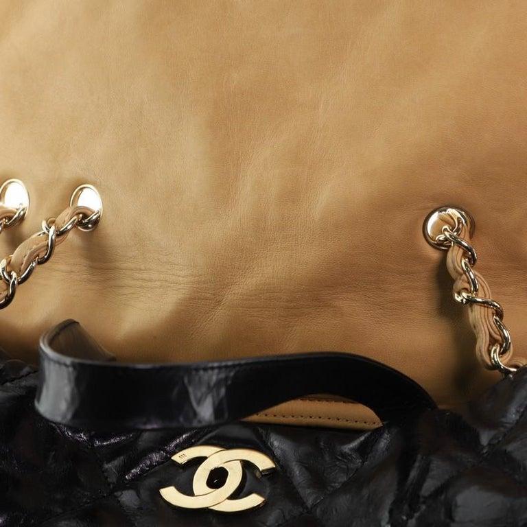 Chanel Portobello Tote Quilted Glazed Calfskin Medium For Sale 3