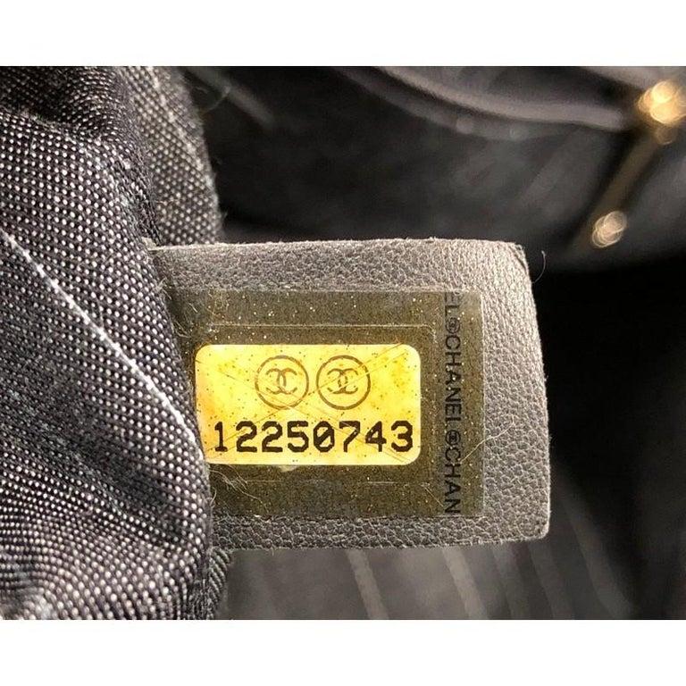 Chanel Portobello Tote Quilted Glazed Calfskin Medium For Sale 4