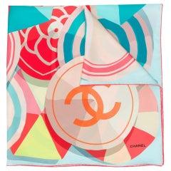 Chanel Pre-Owned geometric CC print scarf