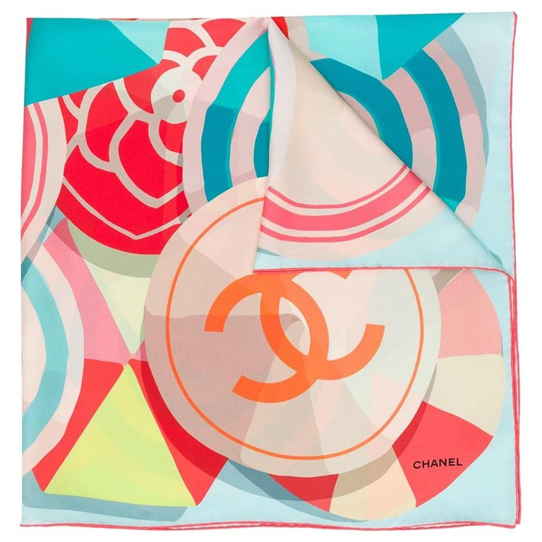 Chanel Pre-Owned geometric CC print scarf For Sale