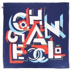 Chanel Pre-Owned geometric logo silk scarf