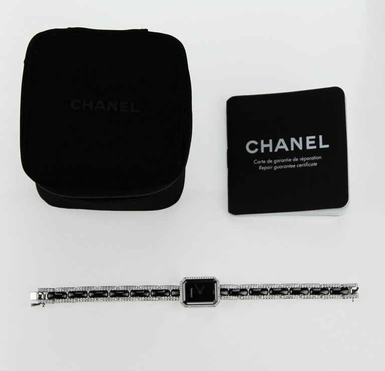 Women's Chanel Premiere Diamond set Dress Watch in 18 K White Gold  For Sale