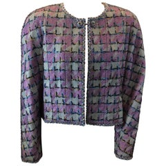 Chanel Print Jacket with Sheer Overlay