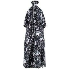 Chanel Printed Halterneck Apron Cotton Dress S 38