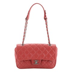 Chanel Punch Flap Bag Quilted Perforated Lambskin Medium