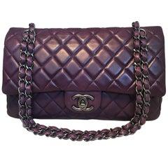 Chanel Purple 10 inch 2.55 Double Flap Classic Shoulder Bag