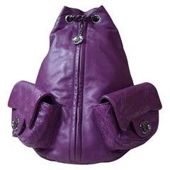 Chanel Purple Lambskin Large Backpack