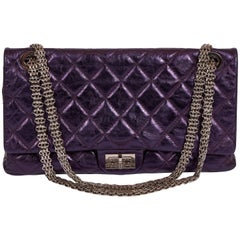 Chanel Purple Metallic Maxi Reissue Flap Bag