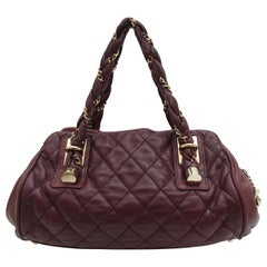 Chanel Purple Quilted Leather Lady Braid Bowler Bag