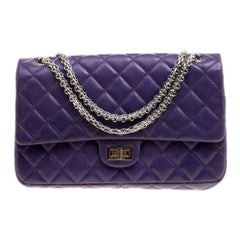 Chanel Purple Quilted Leather Reissue 2.55 Classic 226 Flap Bag