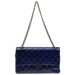 Chanel Purple Quilted Patent Leather Reissue 2.55 Classic 226 Flap Bag