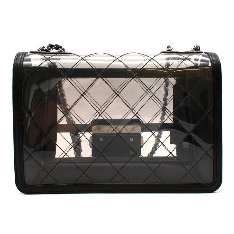Chanel PVC Lambskin Quilted Beauty Lock Flap Bag In Good Condition For Sale In London, GB