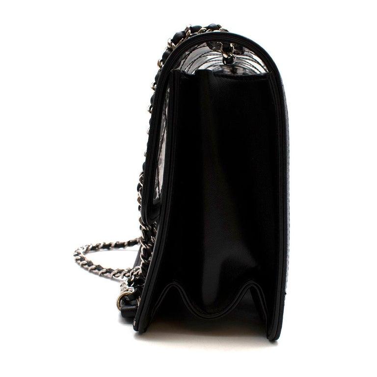 Women's Chanel PVC Lambskin Quilted Beauty Lock Flap Bag For Sale