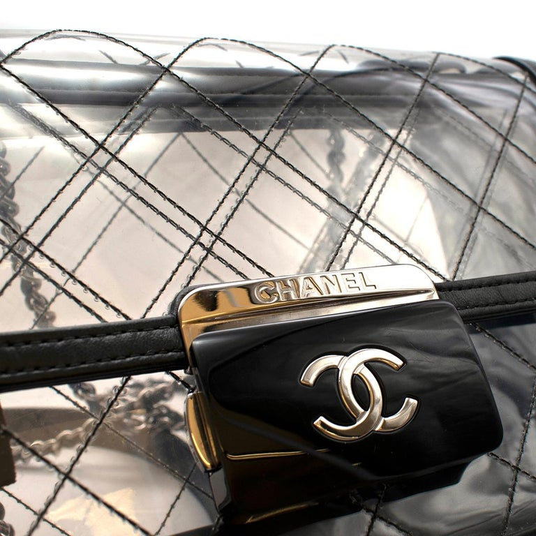 Chanel PVC Lambskin Quilted Beauty Lock Flap Bag For Sale 2