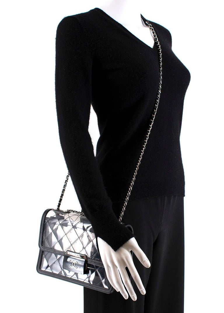 Chanel PVC Lambskin Quilted Beauty Lock Flap Bag For Sale 4