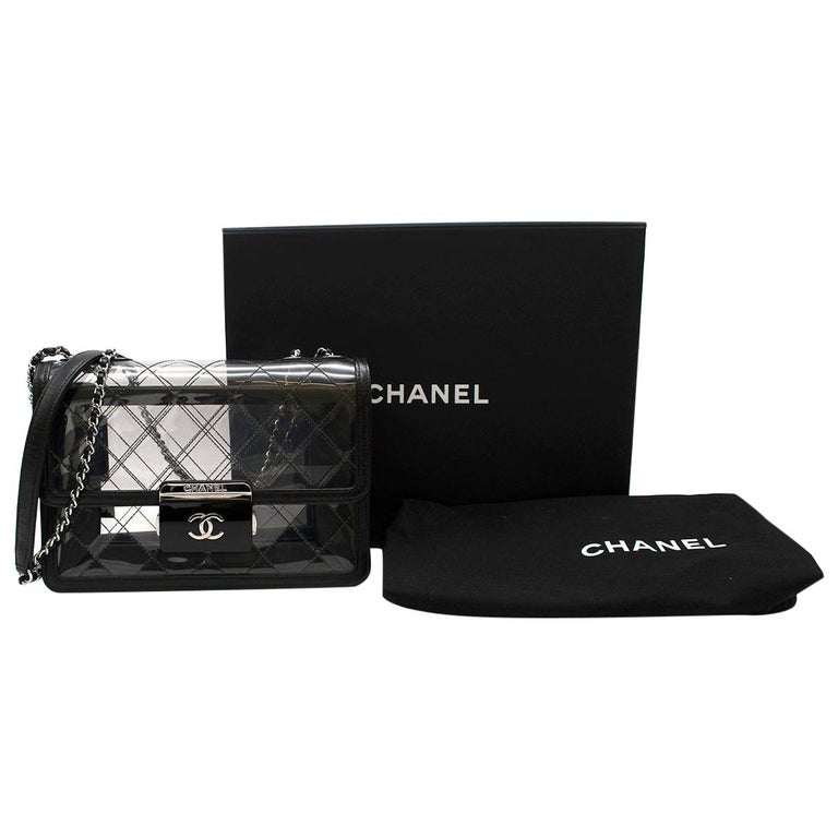 Chanel PVC Lambskin Quilted Beauty Lock Flap Bag For Sale