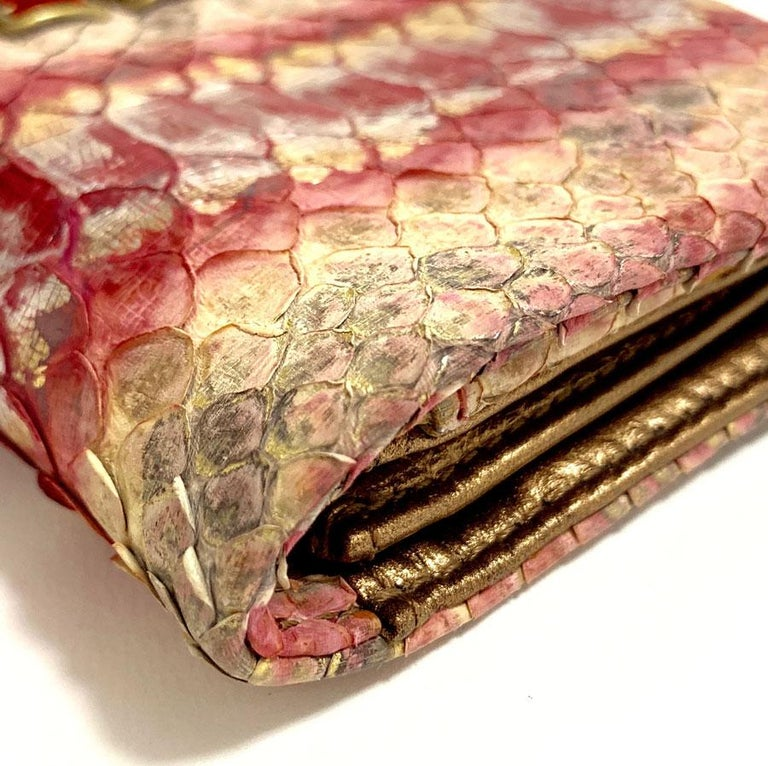CHANEL Python Clutch For Sale 5