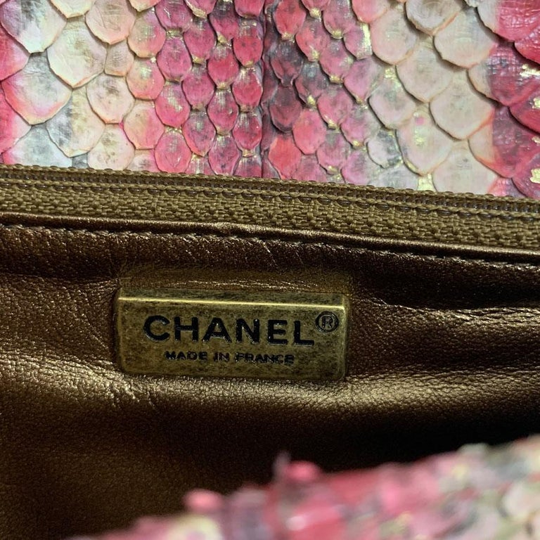 CHANEL Python Clutch For Sale 9