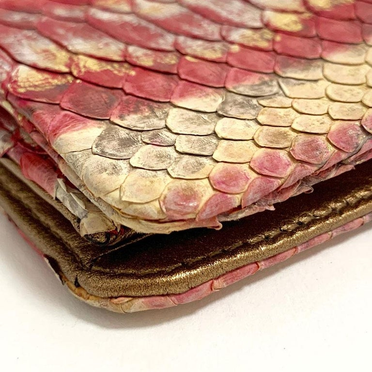 CHANEL Python Clutch For Sale 3