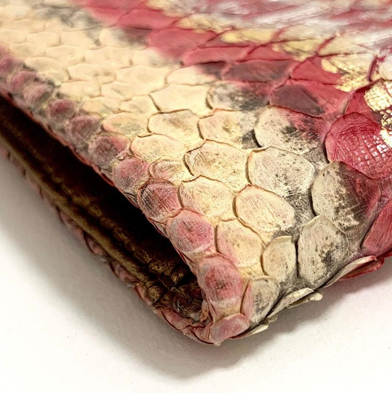 CHANEL Python Clutch For Sale 4