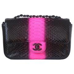Chanel Python Small Classic Flap Bag