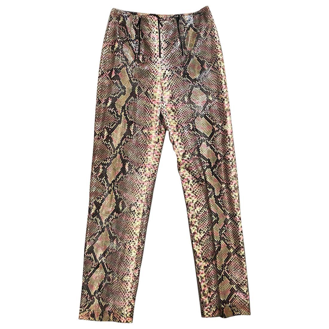 Chanel Python Snakeskin Multicolor Pants