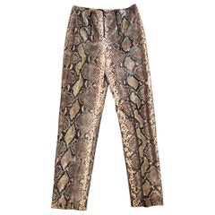 Chanel Python Snakeskin Multicolor Pants