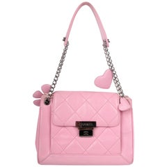 Chanel Quilted Bag Flower & Hearts - pink