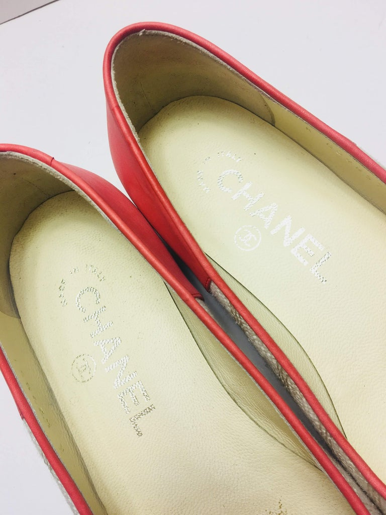 Chanel Quilted Ballet Flats For Sale 1