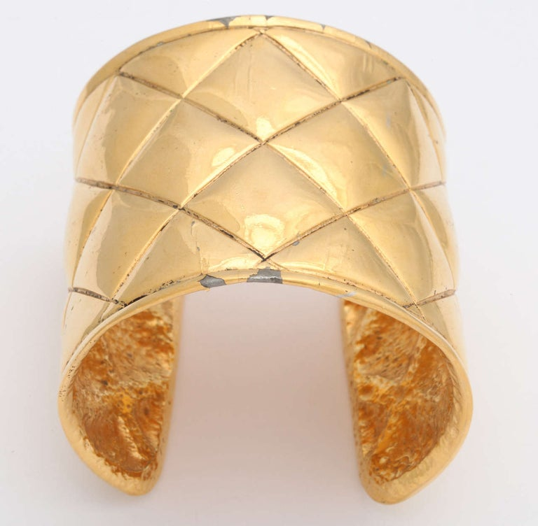 Women's Chanel Quilted Bangle Bracelet For Sale