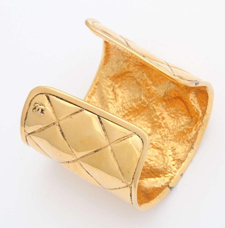 Chanel Quilted Bangle Bracelet For Sale 1
