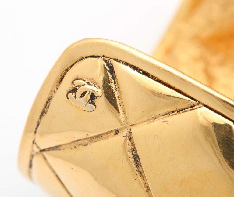 Chanel Quilted Bangle Bracelet For Sale 2