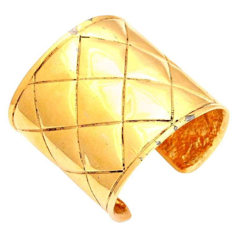 Chanel Quilted Bangle Bracelet For Sale