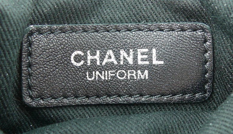 Chanel Quilted Black Leather Employee Uniform Crossbody Bag  For Sale 6
