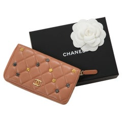 Chanel Quilted Blush Pink Lamskin Wallet