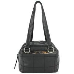 Chanel Quilted Caviar Boston Bowler 14cz0129 Black Leather Shoulder Bag