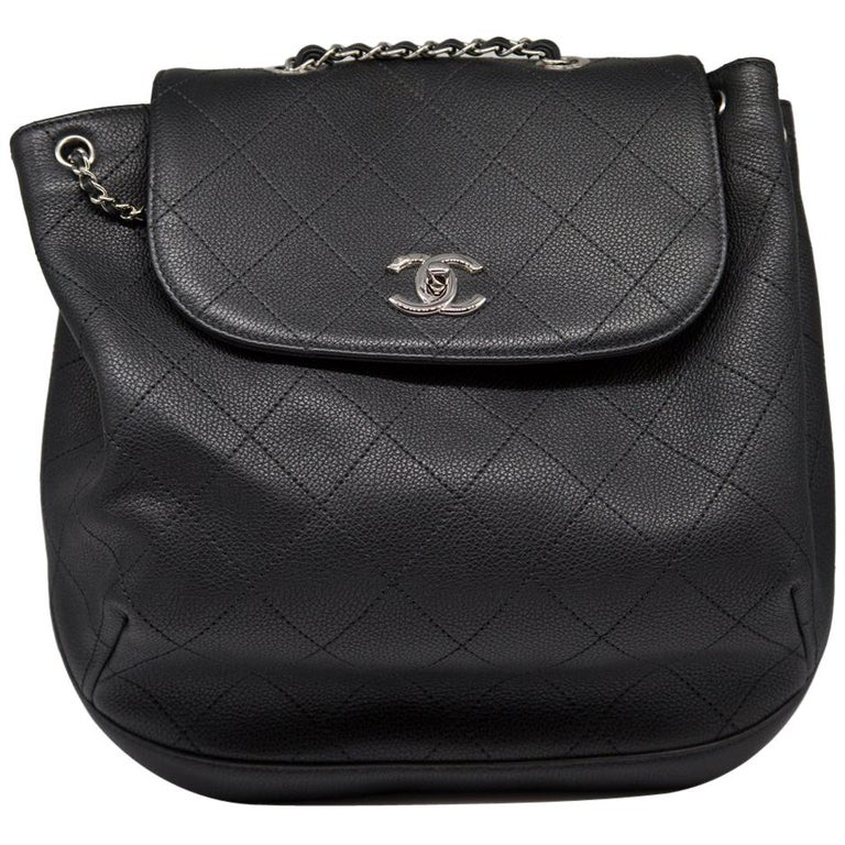 61726b0eadfc6c Chanel Quilted Caviar Leather Backpack at 1stdibs