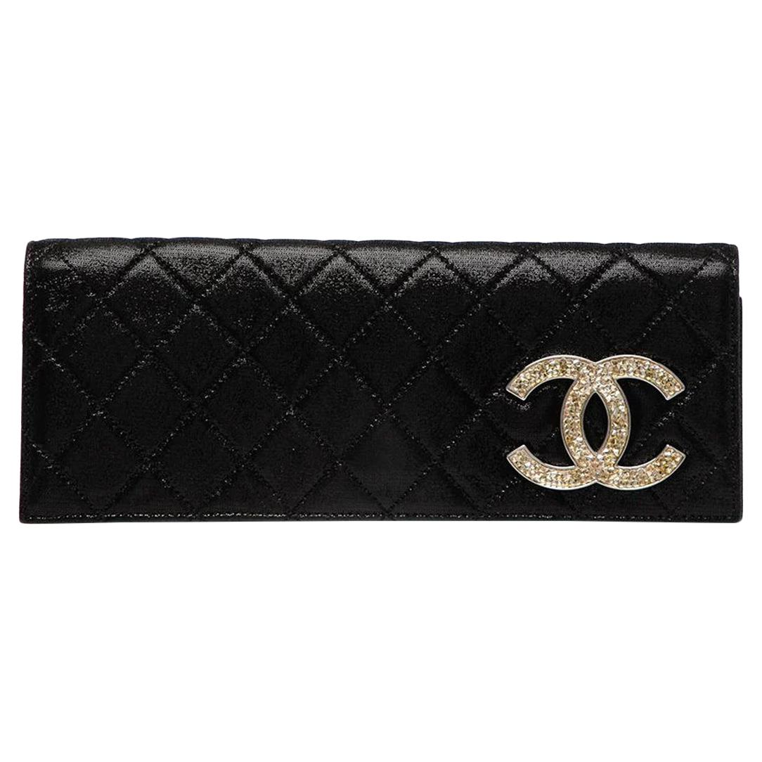 Chanel Quilted CC Diamante Clutch Bag