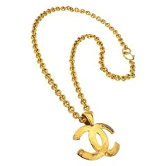 Chanel Quilted CC Motif Necklace